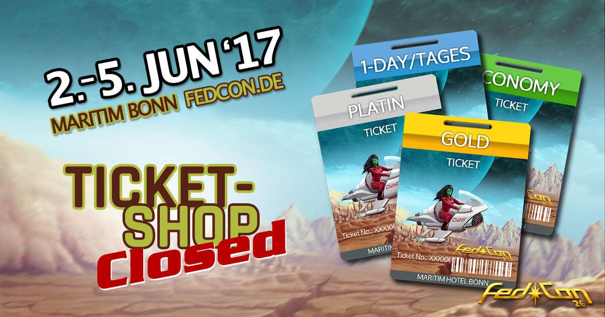 FedCon 26 |Ticket Shop Closed