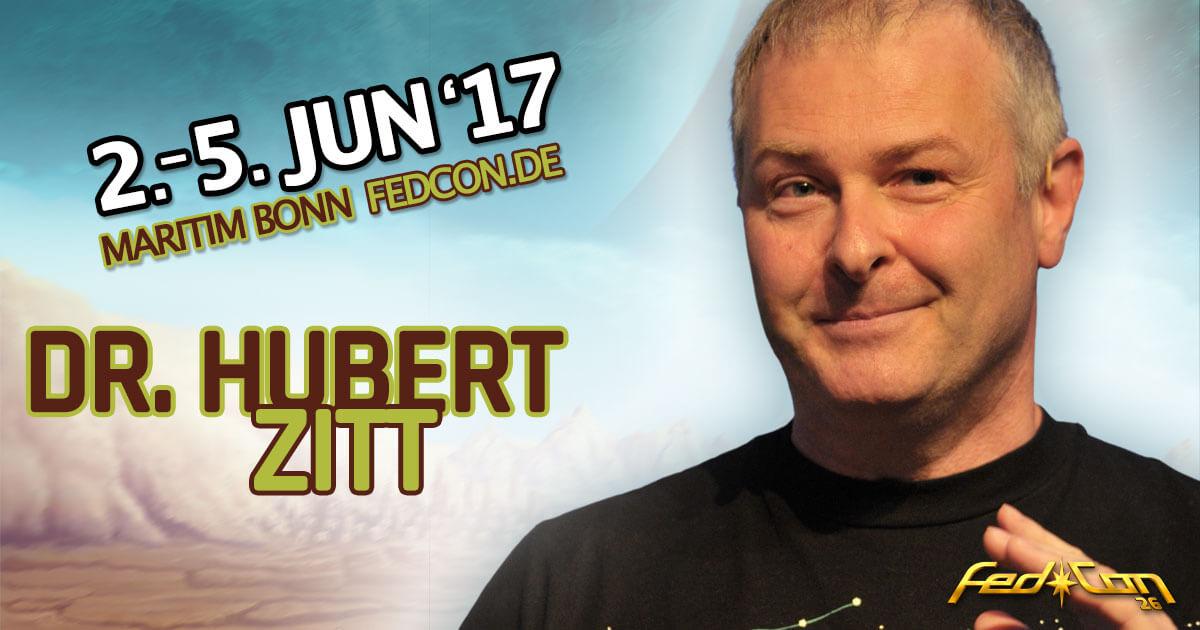 FedCon 26 |Vortragender | Dr. Hubert Zitt