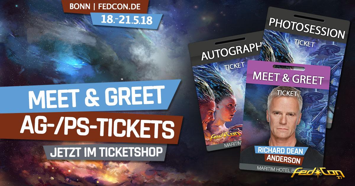 FedCon 27 |Sonstige News | Meet & Greet, AG- & PS-Tickets jetzt im Shop