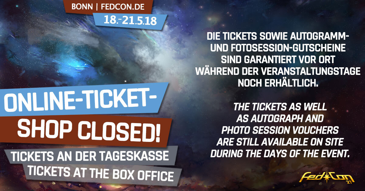 FedCon 27 | News | Tickets & Gutscheine - Tageskasse