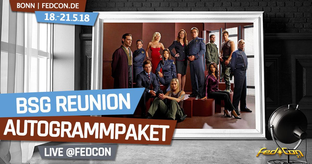 FedCon 2018 | Exklusiver BSG-Reunion Autogrammpaket