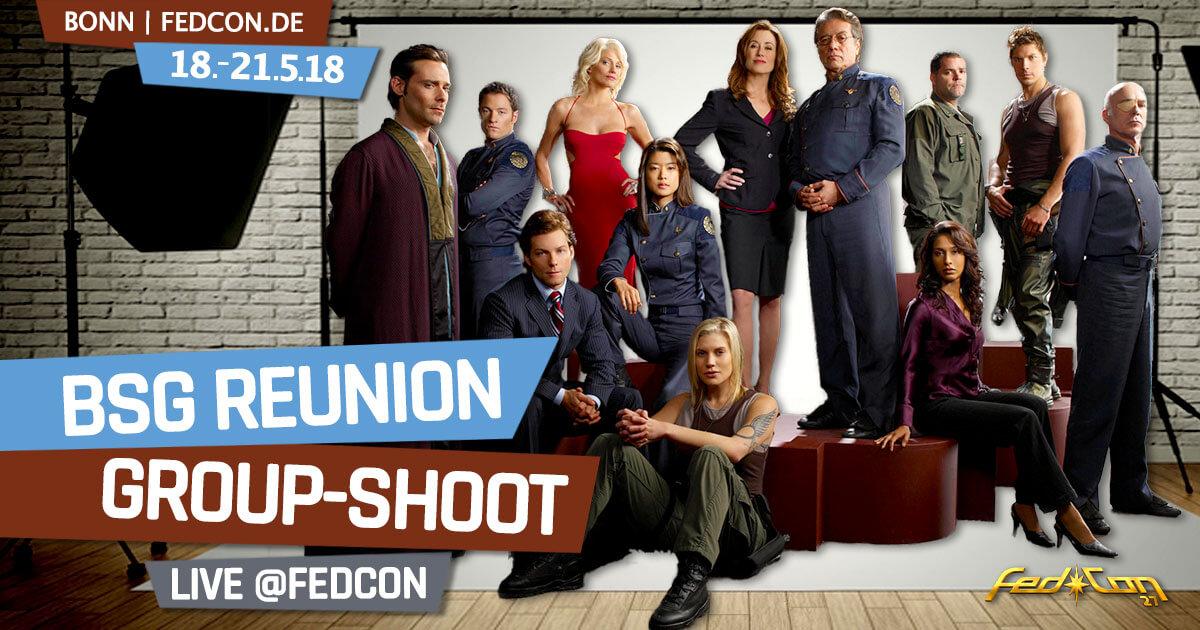 FedCon 2018 | Exklusiver BSG-Reunion Gruppen-Photoshoot