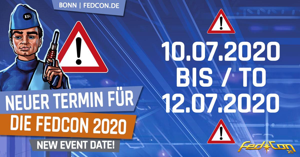 FedCon 29 | News | Neuer Termin für die FedCon 2020